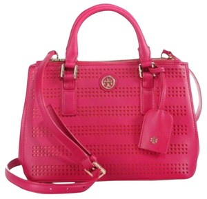 Tory Burch Satchel in Carnation red pink poppy coral