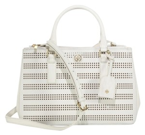 Tory Burch Satchel in White Birch luggage