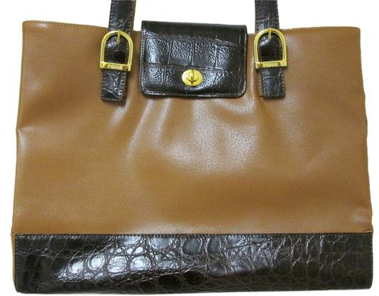 Preload https://item4.tradesy.com/images/gianfranco-ferre-tote-bag-leather-light-brown-with-dark-brown-trim-1107348-0-0.jpg?width=440&height=440