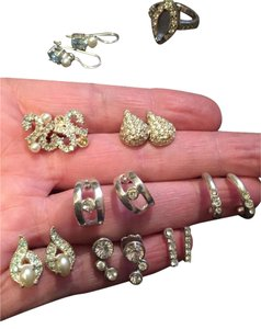 Dillard's Costume Jewelry in bulk (8 pr. of earrings and 1 ring)