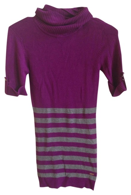 Preload https://item2.tradesy.com/images/guess-purple-soft-casual-comfortable-striped-gold-gold-hardware-knit-sweaterpullover-size-0-xs-1107366-0-0.jpg?width=400&height=650