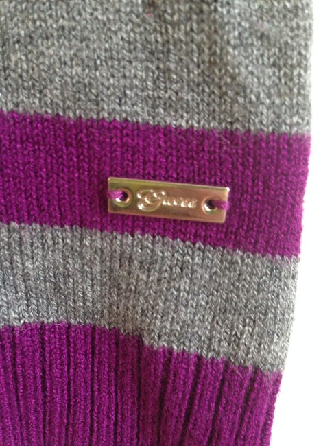 Guess Soft Casual Comfortable Striped Gold Gold Hardware Knit Sweater