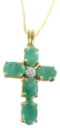 Preload https://item3.tradesy.com/images/gold-14kt-solid-yellow-emerald-cross-pendant-and-necklace-1107377-0-0.jpg?width=440&height=440