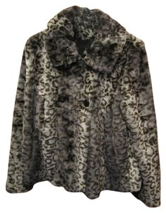 Other Swing Medium Taupe Leapord Cheetah Button Collar Long Sleeve Designer Quality Soft Warm Stylish Versatile Cassic Multi Black Gray Brown Animal Print Faux Fur Jacket