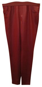 Vera Wang Simply Medium Burgandy Wine Red Leggings