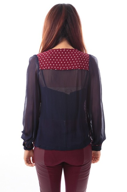 Topshop Top Red and blue