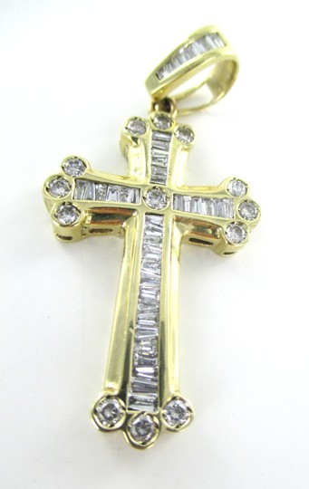 Other 14kt SOLID YELLOW Gold Cross 42 Diamonds Pendant for Sale!!!