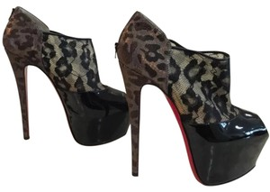 Christian Louboutin Multi colored . Black ,gold ,silver Platforms