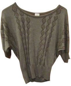 Mossimo Supply Co. Medium Knit Neutral Brown Gray Tan Light Weight Classy Sweater