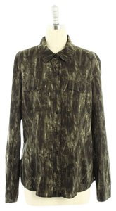 MICHAEL Michael Kors Olive Button Down Shirt Dark green