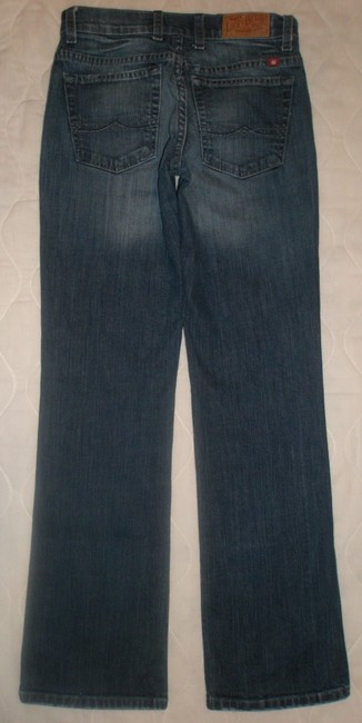 Lucky Brand Classic 5 Pocket Style *cotton/spandex *zip Fly *whiskering & Slight Distressing Detail *machine Washable *ol Babiana Boot Cut Jeans-Dark Rinse