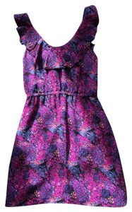 Anlo short dress Purple/Multi on Tradesy