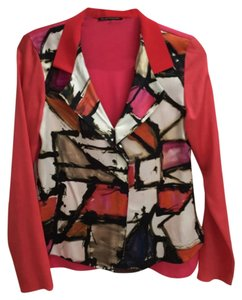 Elie Tahari Top Red/Multi