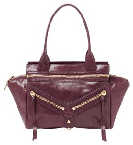 Botkier Trigger Leather Wine Wine Trigger Satchel in Wine/Deep Purple