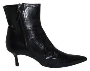 Lambertson Truex Leather Pointy Toe Ankle Black Boots