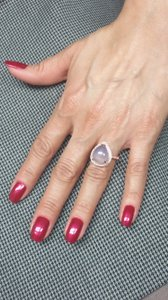 EFFY Effy Chalcedony and Diamond Ring in 14k Rose Gold, Size 7.0