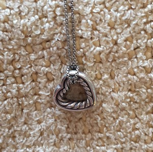 David Yurman David Yurman Heart Charm and Necklace.