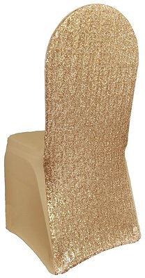 Champagne Spandex Banquet Chair Covers X20 11078386