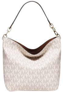 Michael Kors Fulton Vanilla Leather Shoulder Bag