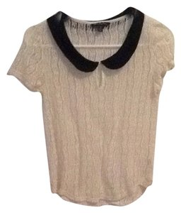 American Eagle Outfitters Top Cream And Black