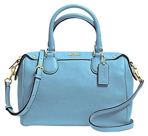 Coach F36677 Bennett Satchel in IMITATION GOLD/BLUEJAY
