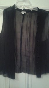 Giorgio Armani Top black sheer