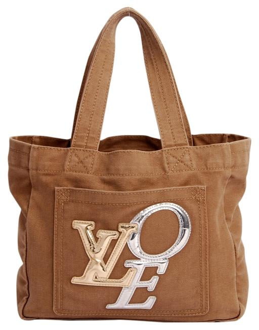 Item - Bag That's Love Metallic Pm 2289 Beige/Gold/Silver Canvas Tote