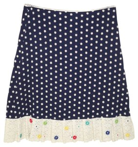 Anthropologie Lace Cotton Embroidered Skirt