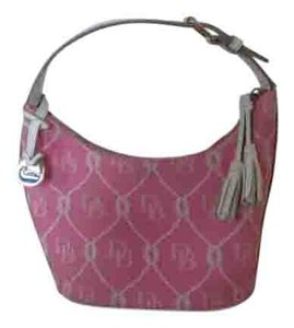 Dooney & Bourke Pink/white Clutch