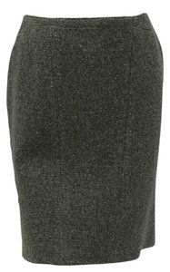 Chanel Tweed Mini Classic Must Have Skirt Green