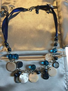 Other Gorgeous satin ribbon and color links with glass beading necklace.