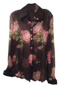 Dolce&Gabbana Top Brown with roses
