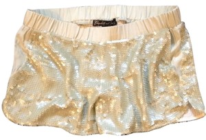 Elizabeth & James Sequin Athletic Matte Dress Shorts Mint