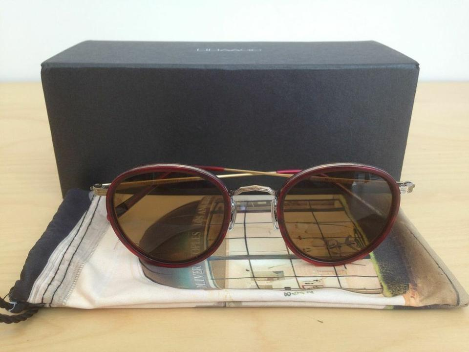 53788bafd2e Oliver Peoples Red Antique Gold Mp-2 Sun Vintage Sunglasses - Tradesy