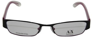 A|X Armani Exchange Armani Exchange AX227 Color 0YPC Black/Burgundy Metal Eyeglasses Frame 50mm NEW