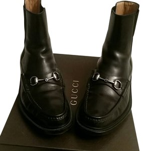 Gucci Leather Boot Mens black Boots