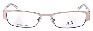 A|X Armani Exchange Armani Exchange AX227 Color 0Y86 Rose/Purple Metal Eyeglasses Frame 50mm NEW