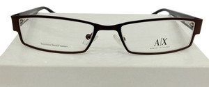 A|X Armani Exchange Armani Exchange AX216 Color 0NYR Brown Metal Eyeglasses Frame 51mm 17mm 130mm NEW