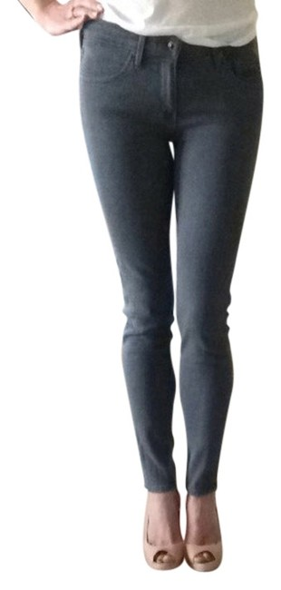 Item - Gray Coated The Stevie Ankle Skinny Jeans Size 26 (2, XS)