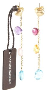 Marco Bicego MARCO BICEGO Aruba 18K Yellow Gold Blue Pink Purple Orange Drop Dangle Earrings