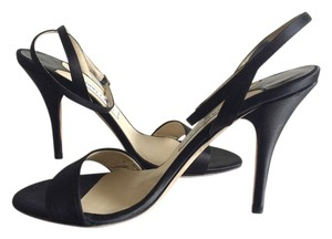 Jimmy Choo Formal Ankle Wrap Strappy Wedding Prom Evening Black Sandals