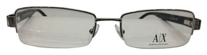 A|X Armani Exchange Armani Exchange AX130 Color 085K Silver Metal Eyeglasses Frame 52mm 17mm 140mm New