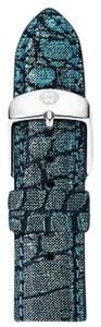Michele Michele 20mm Black Teal Alligator Strap Band MS20AB510486 CSX 39 Deco XL Urban