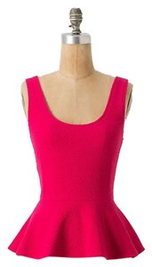 Anthropologie Peplum Top Pink
