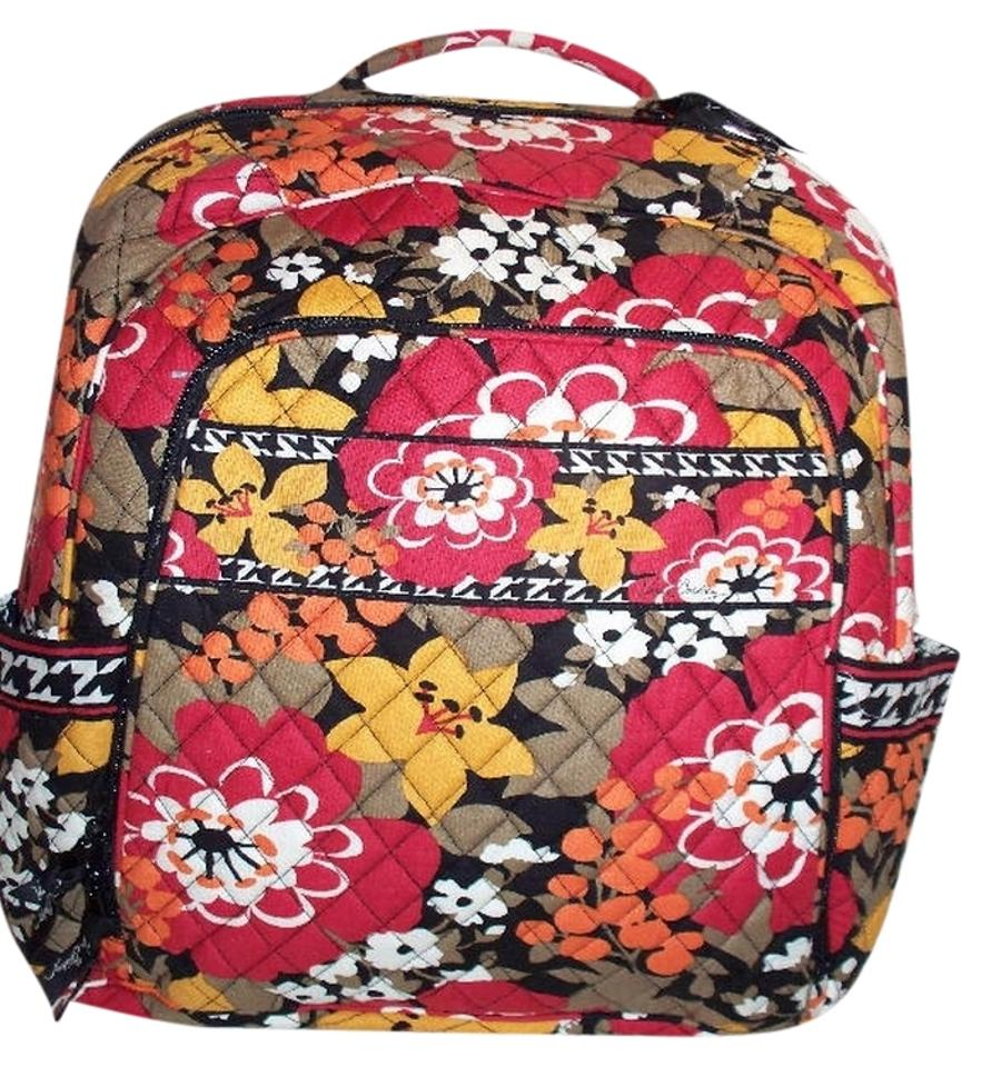 Vera Bradley Laptop Bookbag Black College School Computer Backpack Image 0  ... 3da287a069b91