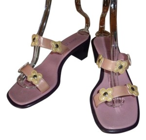 Louis Vuitton LIGHT PINK PATENT LEATHER STRAP Mules