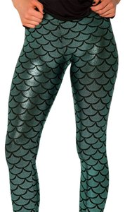 Black Milk Clothing Mermaid Green Leggings