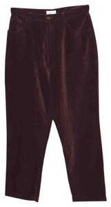 Nordstrom Velour Straight Pants Burgundy