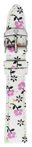Michele Michele 18mm Gia Floral White Leather Strap MS18AA430226 CSX Deco Caber