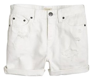 J.Crew Distressed Cuffed Shorts white